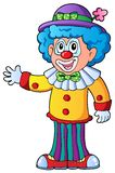 Image of cartoon clown 2. Vector illustration Stock Photography