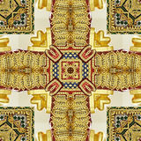 Image of carved golden ornament Royalty Free Stock Photos