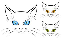 Image of cat eyes Royalty Free Stock Photos