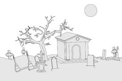 Image of cemetery place Stock Image
