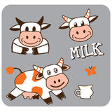 Image of a cheerful spotty cow. Vector image of a cheerful spotty cow Royalty Free Stock Photos