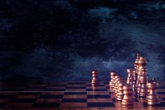 Image of chess board game. Business, competition, strategy, leadership and success concept. Stock Images