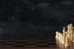 Image of chess board game. Business, competition, strategy, leadership and success concept. Stock Photography