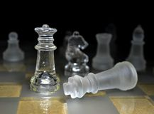 Chess game queen checkmate Royalty Free Stock Photo