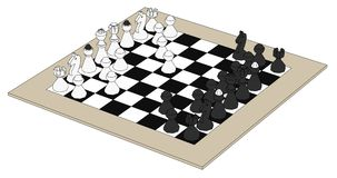 Image of chess set Stock Image