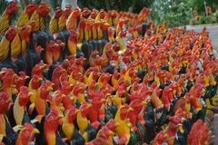 Image of Chicken. Temple,historic site,Thailand marks,historic site,image of Chicken,wat yai chimongkol Stock Image