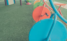 Image of children's playground at public park. Royalty Free Stock Image