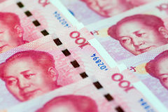 Image of Chinese economy, with Chinese 100 yuan banknotes Royalty Free Stock Photography