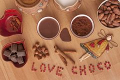 Time to chocolate Stock Image