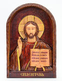 The image of Christ on the iconostasis Royalty Free Stock Images
