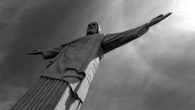 Image of Christ Rio de Janiero Brazil. Very much one of the main tourist attractions and points of interest in the area royalty free stock photo