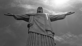 Image of Christ Rio de Janiero Brazil. Very much one of the main tourist attractions and points of interest in the area stock images
