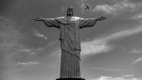 Image of Christ Rio de Janiero Brazil. Very much one of the main tourist attractions and points of interest in the area stock photos