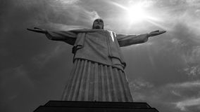 Image of Christ Rio de Janiero Brazil. Very much one of the main tourist attractions and points of interest in the area royalty free stock photography