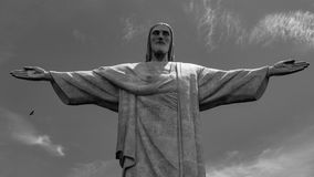 Image of Christ Rio de Janiero Brazil. Very much one of the main tourist attractions and points of interest in the area stock photography