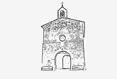 Image of a Christian hermitage with. A  format Stock Image