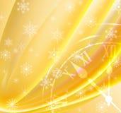 Image of Christmas clock closeup. Stock Photo