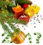 Image of Christmas decorations closeup Stock Photos