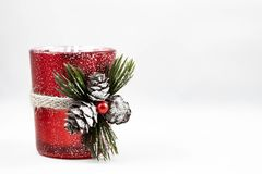Image of a Christmas ornament. A image of a single Christmas ornament on a white background stock photography
