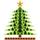 Image Christmas tree in the new year.  Royalty Free Stock Images