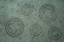 Circular stone carving stock photography