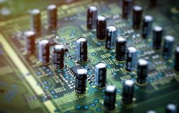 Image of the circuit board closeup.  royalty free stock photography