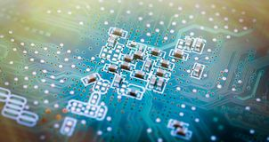 Image of the circuit board closeup royalty free stock image