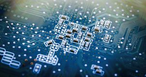 Image of the circuit board closeup royalty free stock images