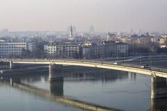 The image of the city car bridge Stock Photo
