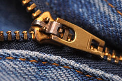 Image of classic jeans zip Stock Photo