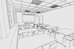 Image of classroom interior Stock Images