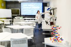 Image of classroom for practicing chemistry