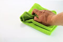 An image of cleaning a surface - housekeeping Different color versions. Abstract royalty free stock photo