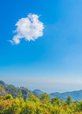 image of clear blue sky and mountain. Royalty Free Stock Images