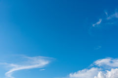 Image of clear blue sky and white clouds . Image of clear blue sky and white clouds on day time for background usage Royalty Free Stock Photo