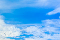 Image of clear sky on day time for background usage. Stock Photo
