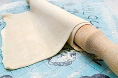 One layer of dough Royalty Free Stock Images