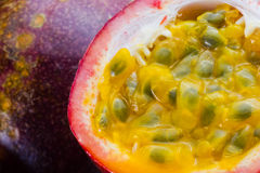 Image of closeup passionfruit Royalty Free Stock Photography