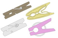 Image of clothes pegs Stock Photography