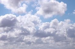 image of clouds in the blue sky. Stock Photos