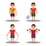 4 image coach with different shells in cartoon style. Vector Stock Photography