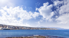 Coastal town on Crete in Greece Stock Photography
