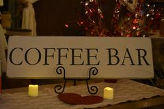 Coffee Bar Sign. Image of a coffee bar sign Royalty Free Stock Photo