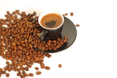Image of coffee cup and beans Royalty Free Stock Photography
