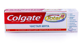 Image of Colgate toothpaste on white Stock Images