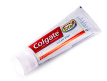 Image of Colgate toothpaste on white Stock Photography