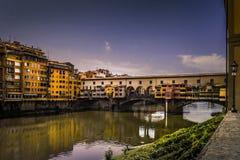 Image colorée de Ponte Vecchio, Florence Photographie stock libre de droits