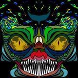 Image colorée de vecteur des poissons dans le style d'art abstrait Photographie stock libre de droits