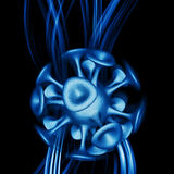 Image of color atoms and electrons Physics concept. Royalty Free Stock Images