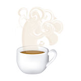 Image color with hot cup of tea and fresh smelling. Illustration Stock Photography